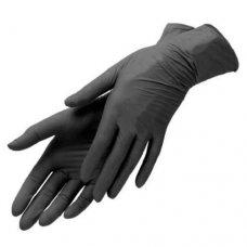 Перчатки нитриловые черные (50 пар в уп)