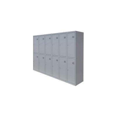 Шкафы металличесские двохуровневые для раздевалки