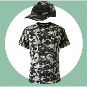Камуфляжные футболки и кепки