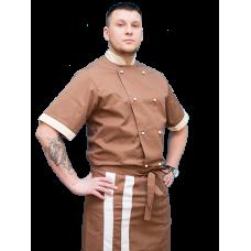 Китель поварской мужской,коричневый