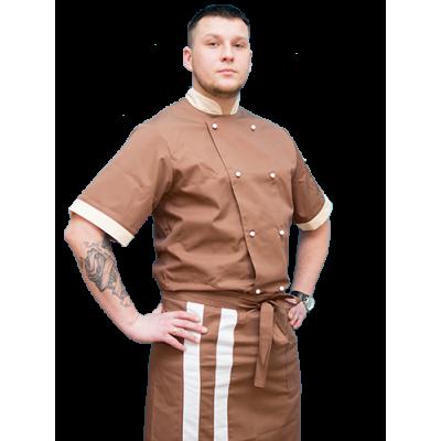 Китель поварской мужской, коричневый