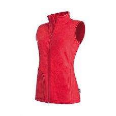 Женский флисовый жилет красный