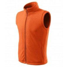 Флисовый жилет оранжевый