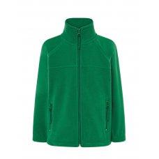 Детская флисовая кофта зеленая