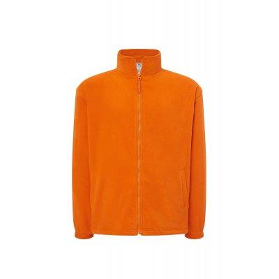 Мужская флисовая кофта оранжевая