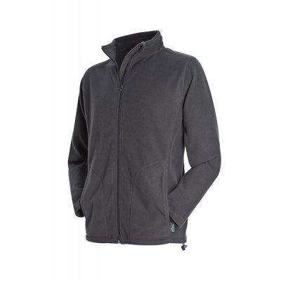 Мужская флисовая куртка серая
