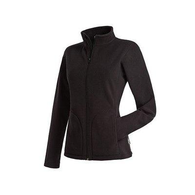 Женская флисовая куртка черная