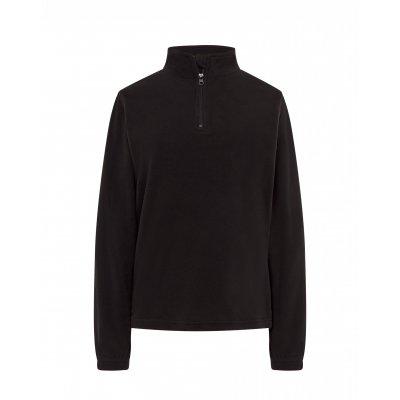 Женская флисовая кофта черная