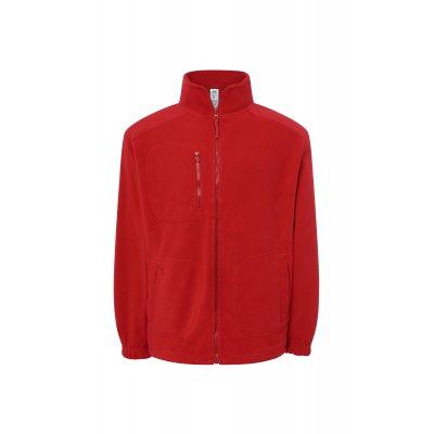 Мужской флисовый свитер красный