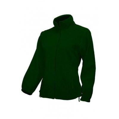 Женская флисовая кофта темно-зеленая