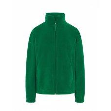 Женская флисовая кофта зеленая