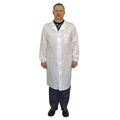 Халат мужской, белый ткань диагональ