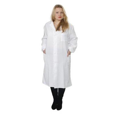 Халат женский белый, ткань стрейч ОТ-4