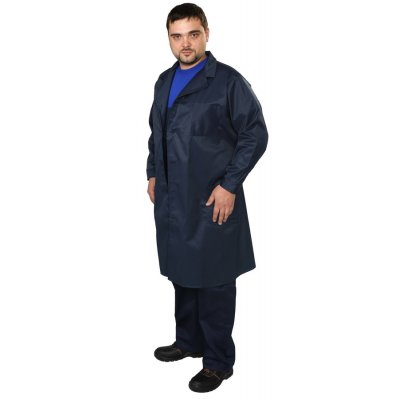 Халат мужской, темный ткань грета