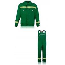 """Куртка с полукомбинезоном """"Визир"""" зеленый с свп"""