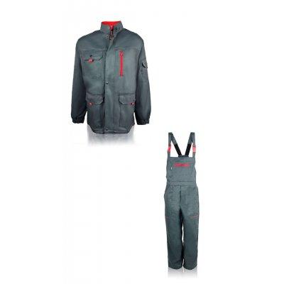 """Куртка с полукомбинезоном """"Базальт""""  серый"""