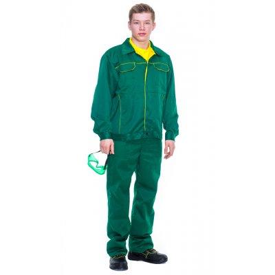 Костюм рабочий Универсал Грин с п/к зеленый с желтым кантом
