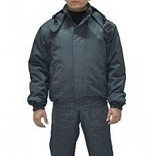 Куртка утепленная Флис цв. серый(грета 53% хб)