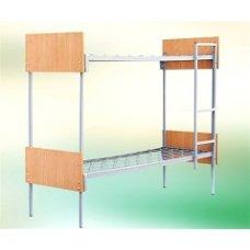 Кровать комбинированная металлическая двухъярусная 190×80 с быльцами ДСП-ПК02