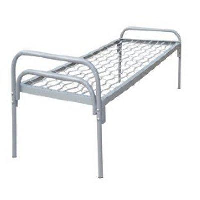 Кровать металлическая на сетке 190х70 с металлической спинкой НО-01