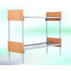 Кровать комбинированная металлическая двухъярусная 190×90 с быльцами ДСП-ЛД03