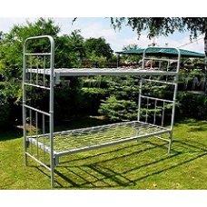 Кровать металлическая двухъярусная 190×70 трансформер с дугами КА