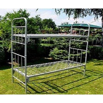Кровать металлическая двухъярусная (1900х700мм) ТРАНСФОРМЕР АК с дугами