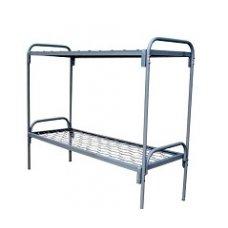 Кровать двухъярусная металлическая 190х80 КУ-001 быльца металл