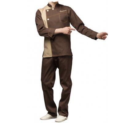 Поварской костюм мужской беж, ткань:смесовая