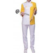 Поварской костюм женский желтый