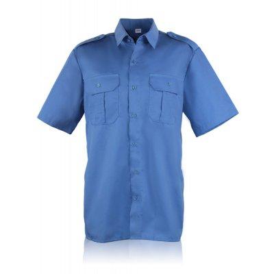 Рубашка форменная с коротким рукавом голубая