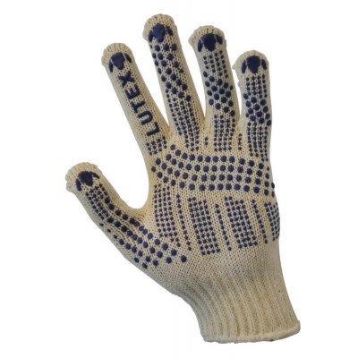 Перчатки трикотажные уплотненная с Пвх-точкой (4 нити)