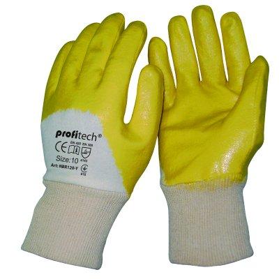 Перчатки х/б с нитрилом покрытием Profitech Nbr1260-Y