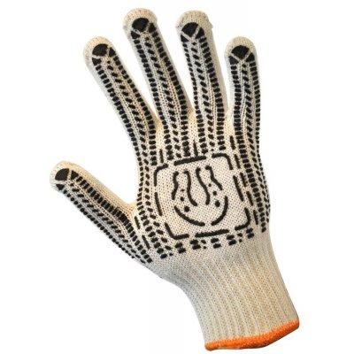 Перчатки трикотажные уплотненная с Пвх-точкой (7 нитей)