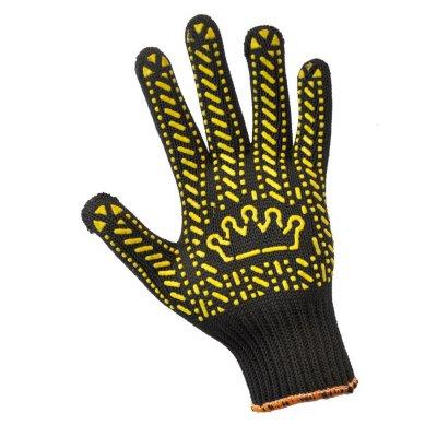 Перчатки трикотажные с пвх-точкой Корона