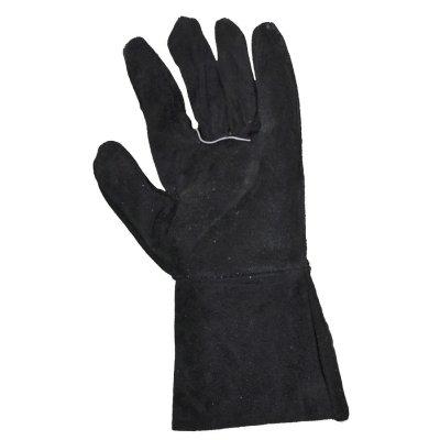 Перчатки с крагами, кожаные (спилок)