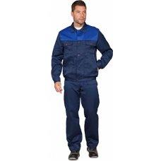 Костюм рабочий п/к+куртка с васильковой кокеткой