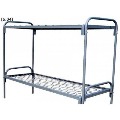 Кровать двухъярусная металлическая 190х90 КУ-001 быльца металл