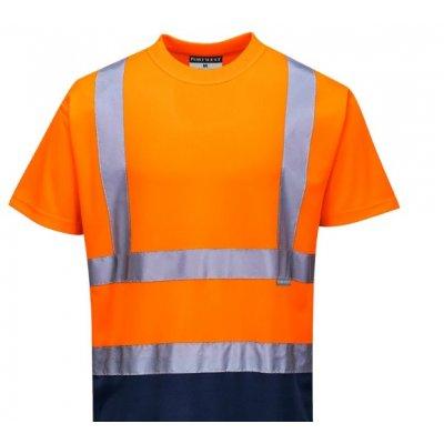 Футболка сигнальная оранжево-синяя 100 п/э