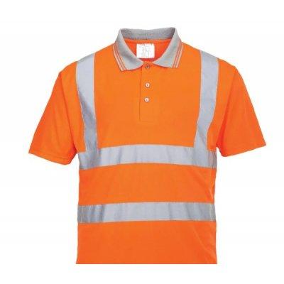 Поло сигнальное оранжевого цвета