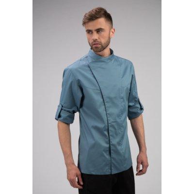 Китель поварской мужской приталенный, длинный рукав с отворотом на кнопку, разные цвета