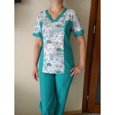 Медицинский костюм женский (батист+100%коттон)