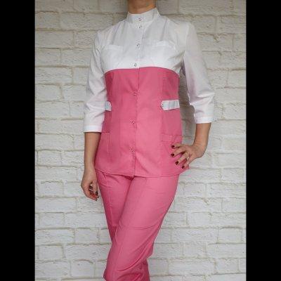 Медицинский костюм женский коттон (комбинированный двух цветов)