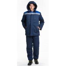 Костюм утепленный с брюками синий