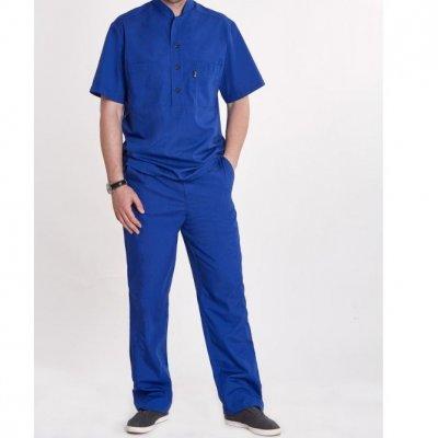 Мужской медицинский костюм Марик,  синий