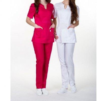 Женская медицинская куртка Грация, красный