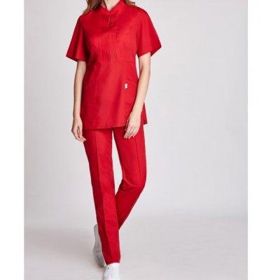 Женская медицинская куртка Мико, красный батист