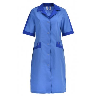 Халат женский рабочий голубой, ткань габардин ОТ-5