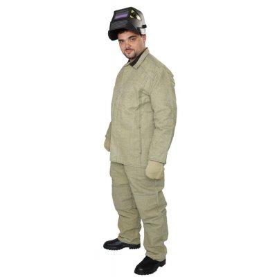 Костюм сварщика огнестойкий, брюки с курткой, ткань брезент