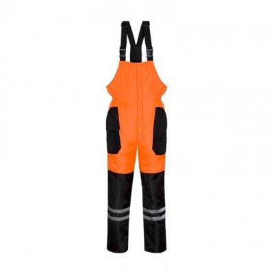 Полукомбинезон утепленный оранжево-черный